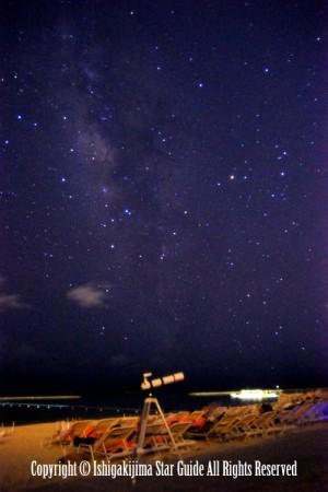 南の島の星空ツアーの様子