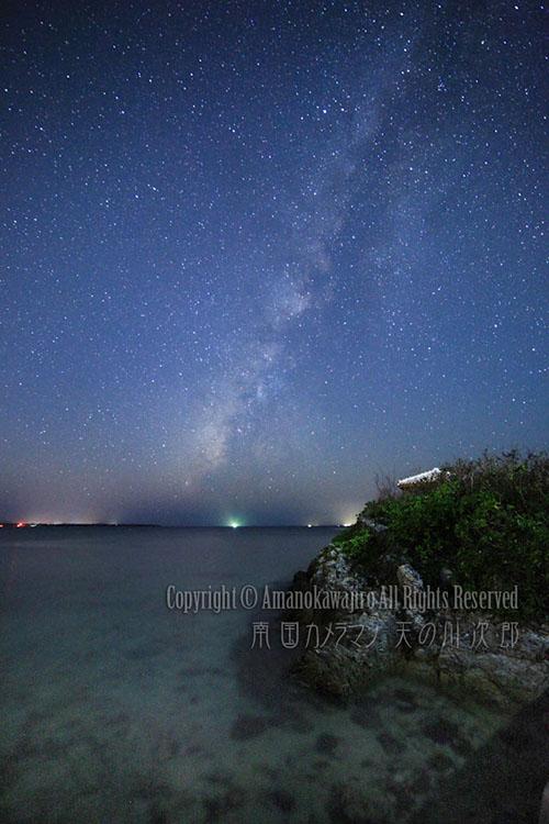 石垣島の海と天の川